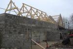 bois, construction, charpente de maison