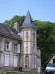 château, toiture, ardoises